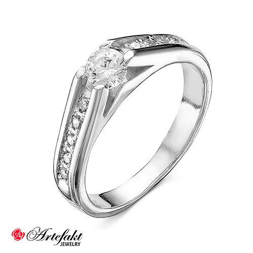 30e75dc2826b Серебряное кольцо 925 пробы с бесцветными фианитами - 151