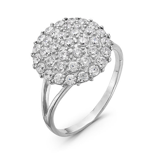 f2bb0f7ddfc2 Купить Серебряное кольцо с белыми фианитами - 096